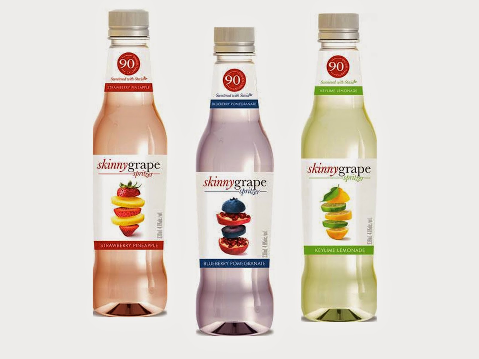 Skinny Grape Low Calorie Wine Spritzers in three flavours