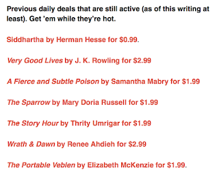 "Book Riot's ""Today's Featured Deals"" deals"