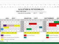 Download Aplikasi Kalender Pendidikan 2017/2018 Otomatis Dilengkapi Hari Efektif dan Non Efektif