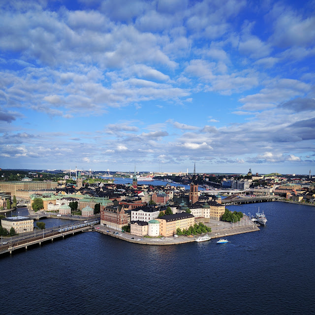Views of Gamla Stan (Old Town Stockholm) from the tower of Stockholm City Hall