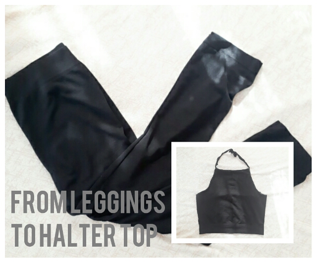 DIY | Turn Your Old Leggings to a Halter Top