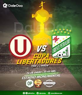 Universitario vs Oriente Petrolero - DaleOoo - Copa Conmebol Libertadores - Parrillada Oriente Petrolero - Super Milaneza - Hache Barber Studio