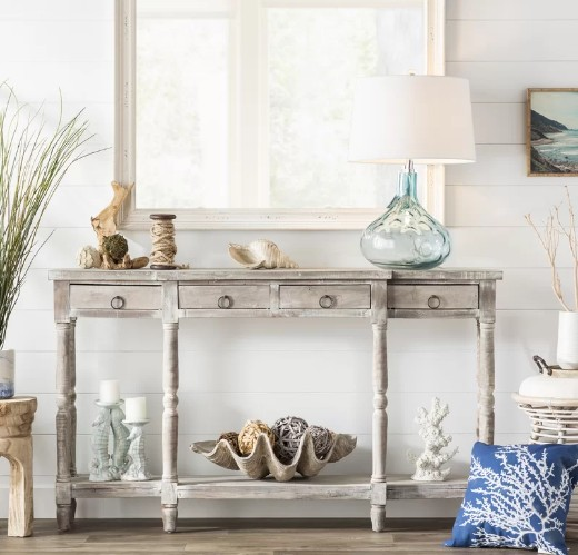 Console Table Styled with Coastal Decor