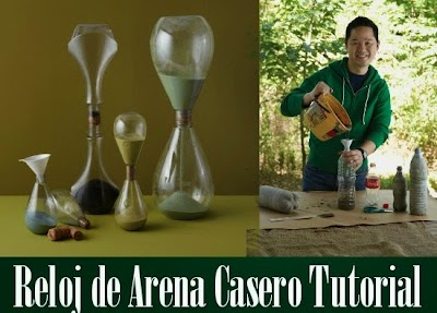Reloj de Arena casero con una botella