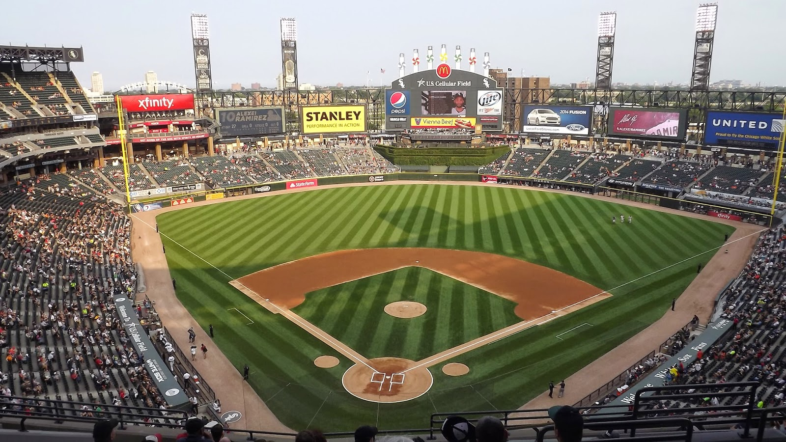 Rounding The Bases Sweet Home Chicago Part US Cellular Field - Us cellular fields map