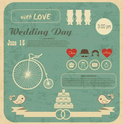 kartun undangan pernikahan, macam-macam undangan pernikahan, desain undangan pernikahan unik
