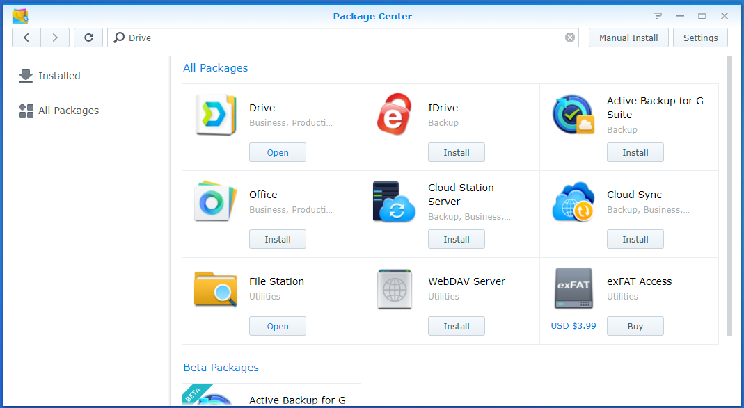 Taylor Built Solutions: Synology DS718+ -- Adding Programs and