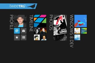 Trendy Tweetro App in Windows 8