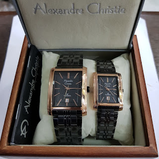 Jual Jam Alexandre Christie couple,Harga Jam Alexandre Christie couple