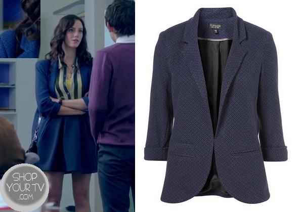 Skins: Season 7 Episode 1 Effie's Blue Printed Blazer | Shop