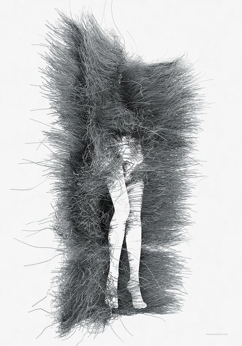 07-nogi-nogi-Janusz-Jurek-Drawings-of-Texture-Enveloping-and-Constructing-the-Body-www-designstack-co