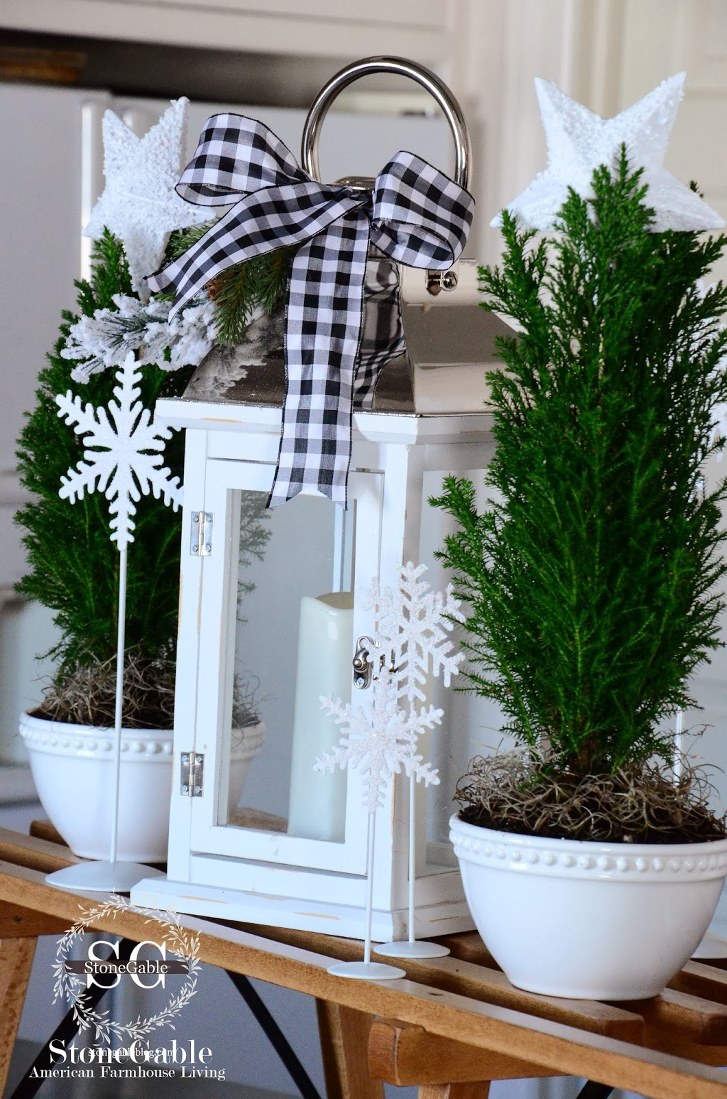 Kitchen Shelf Decor Classics Denver A Farmhouse Christmas - Stonegable