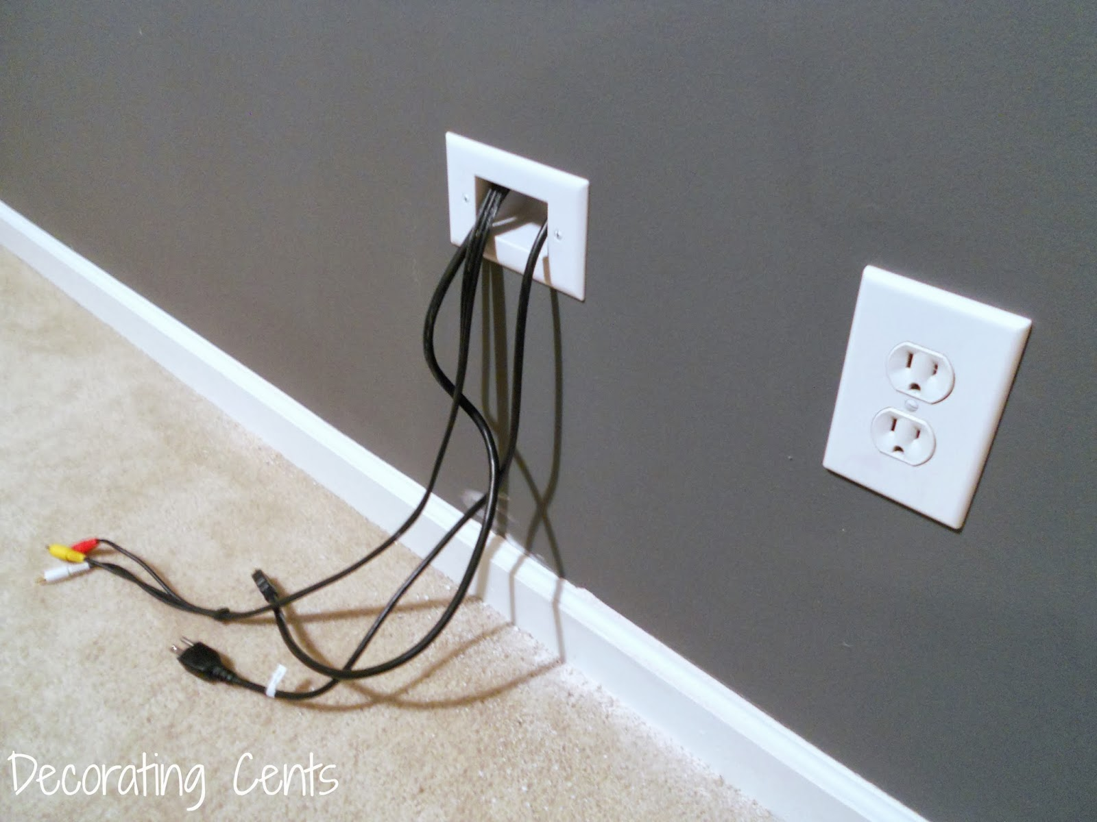 small resolution of decorating cents wall mounted tv and hiding the cords wiring tv wall mount wiring tv wall