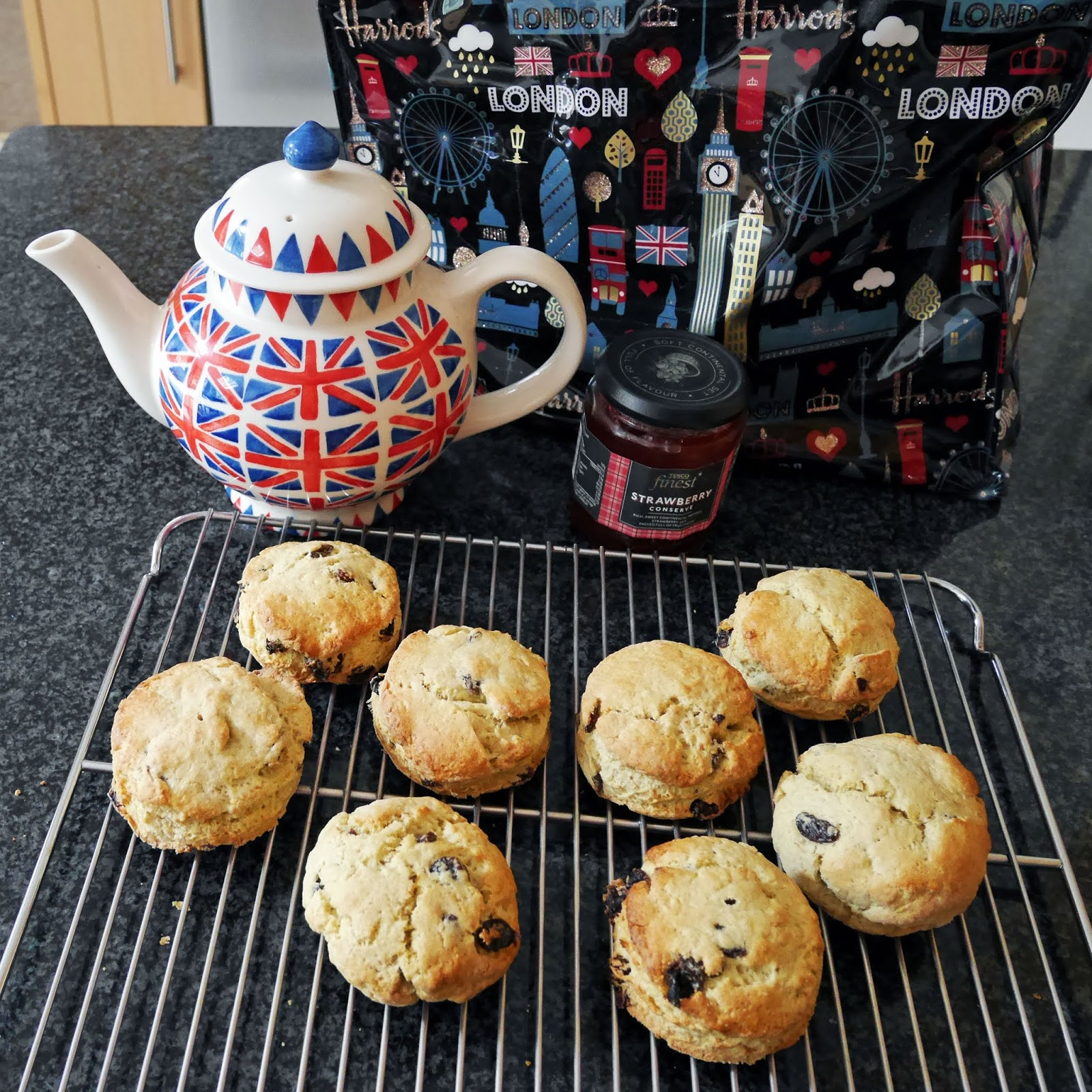 Fruit scones for the afternoon tea