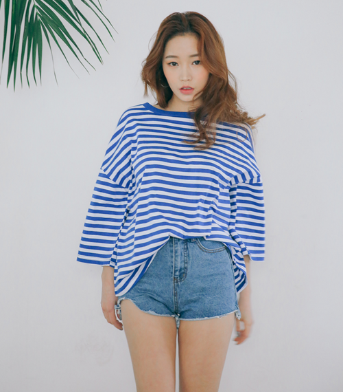 Off-Duty Striped Long Sleeve T-Shirt
