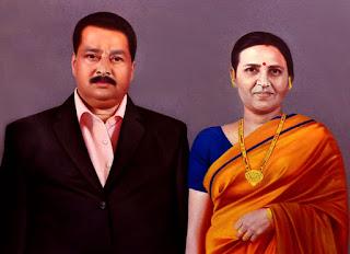 indian-mature-couple-painting-portrait
