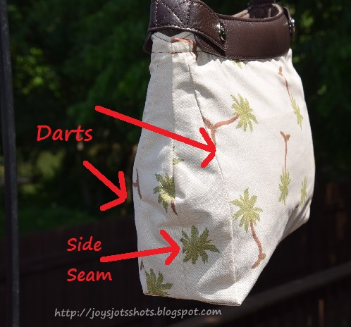 http://joysjotsshots.blogspot.com/2015/06/dart-construction-for-large-purse-skirt.html