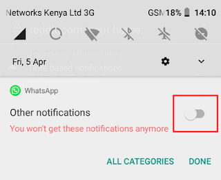 Other notifications