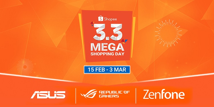ASUS Joins Shopee's 3.3 Mega Shopping Sale