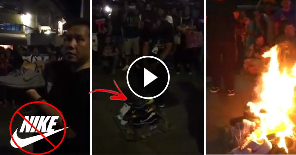 Cebuanos Unite In Burning Their Nike Shoes, To Support Manny Pacquiao!