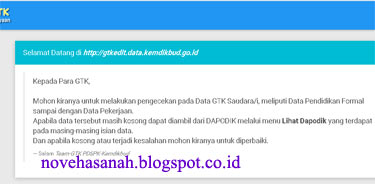 Ucapan Selamat Datang dan Informasi Awal tentang laman gtk edit ketika kita dalam posisi login