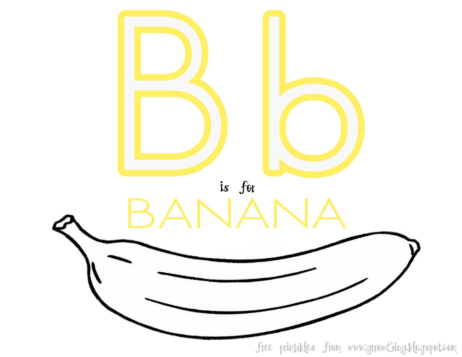 Groweing B Is For Banana D Beach