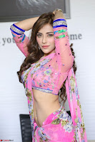 Actress Angela Krislinzki in Pink Saree Blouse Exclusive Pics March 2017 ~  053.JPG