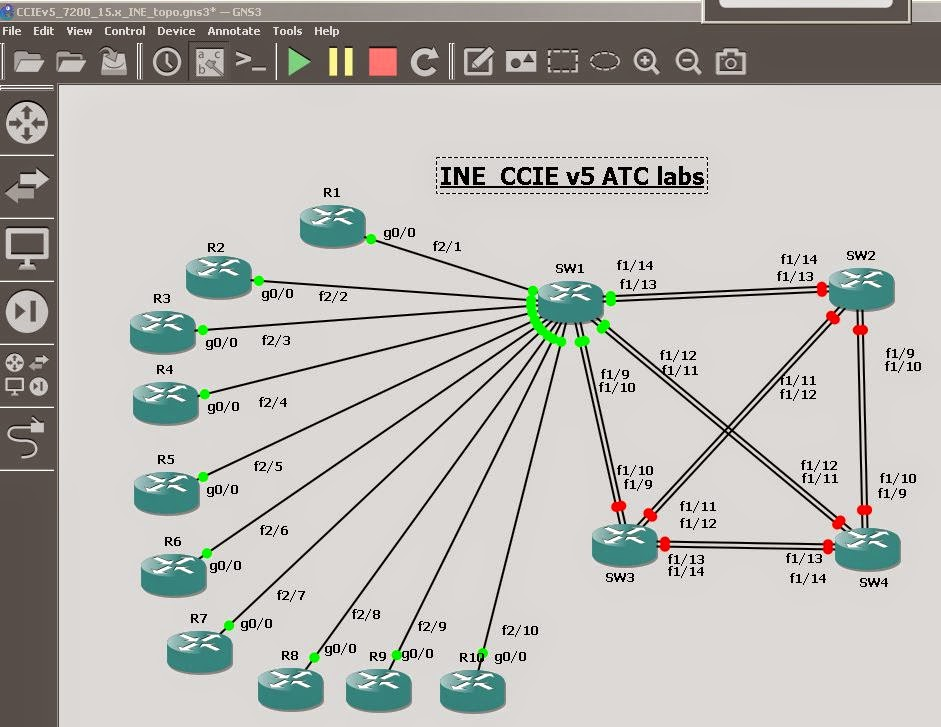 Ine ccie lab in gns3