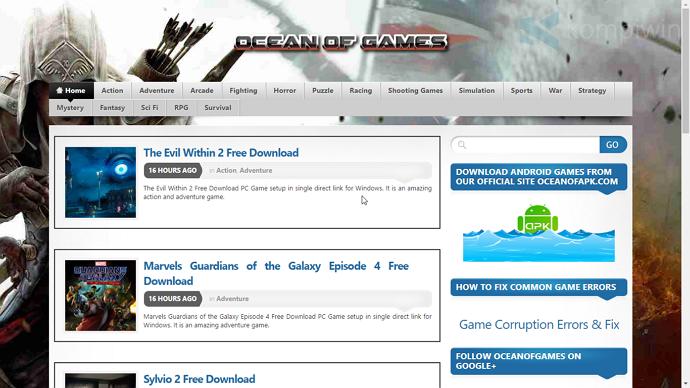 ocean of games illegal