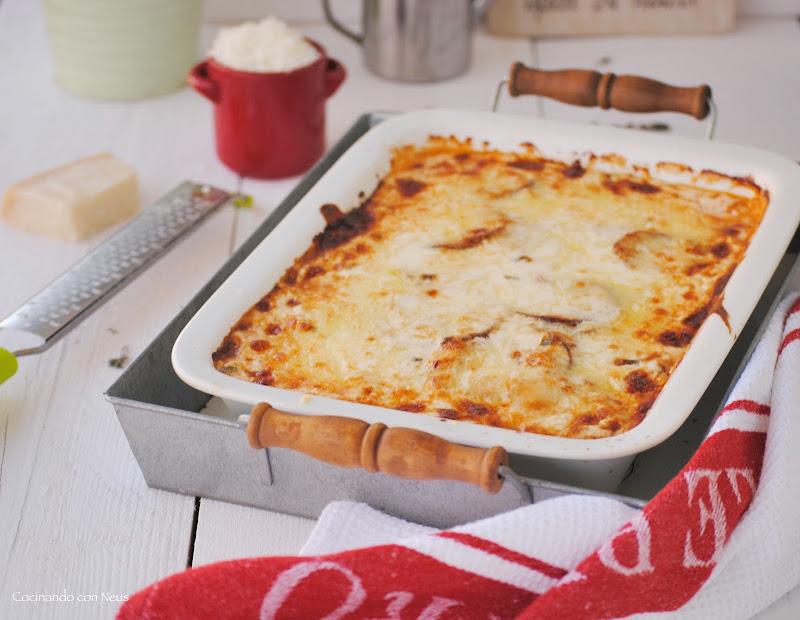 Berenjenas a la parmesana versionadas