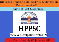 Himachal Pradesh Public service Commission Recruitment 2018- 12 Civil Judge