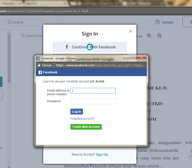 Isi Email dan Password Facebook Anda