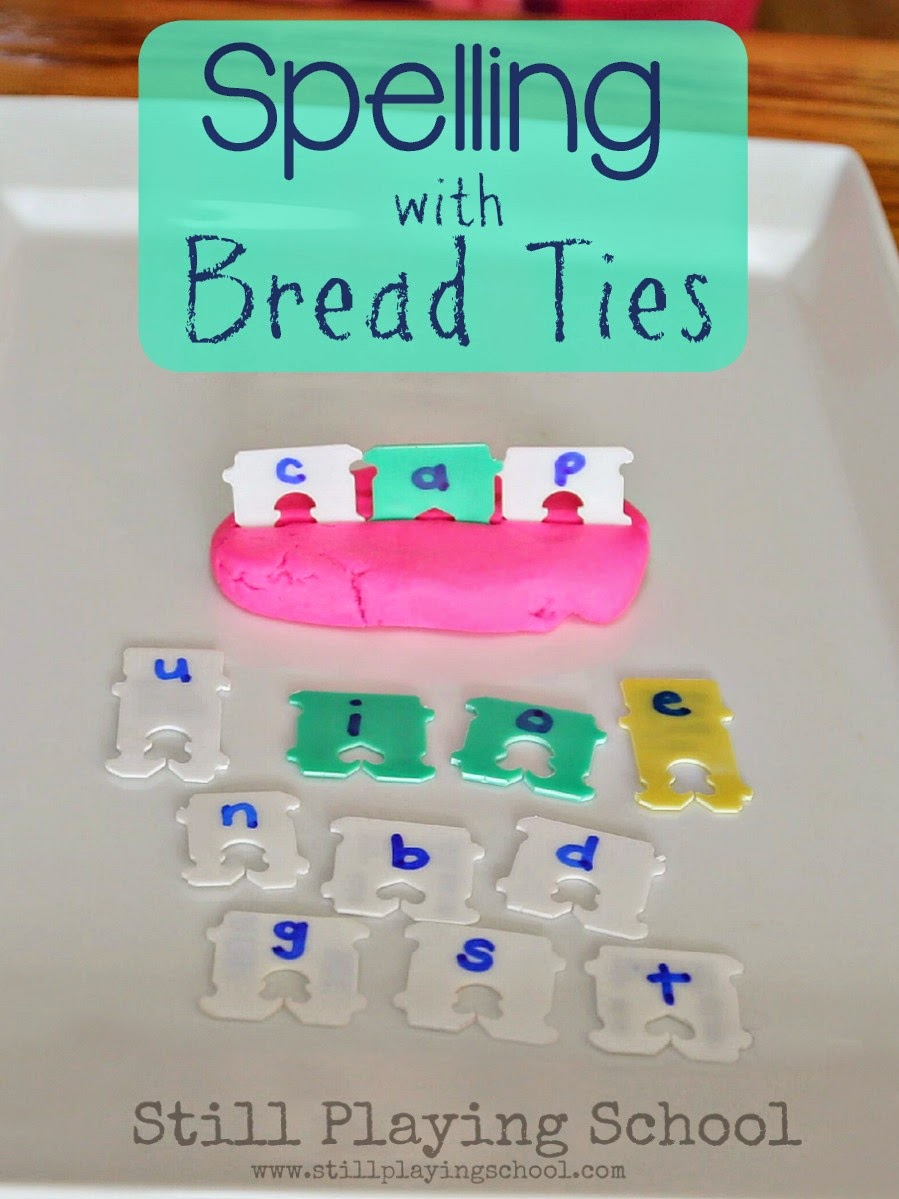 Building Word Families with Bread Ties   Still Playing School