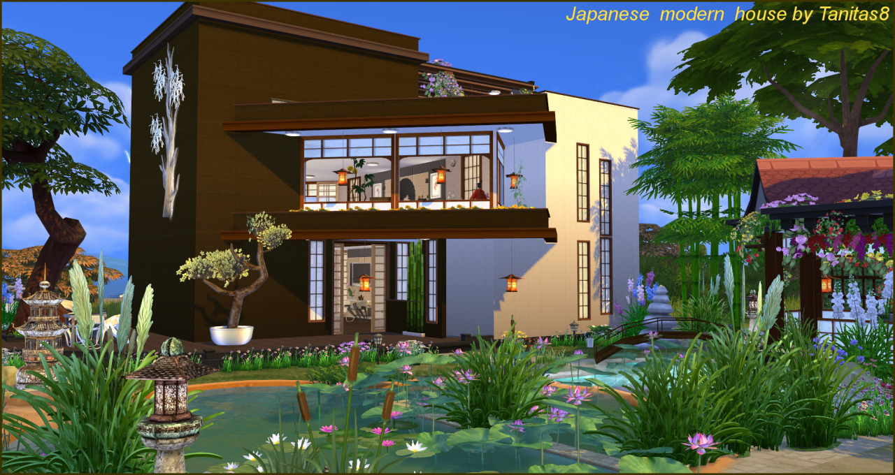 My Sims 4 Blog Modern Japanese House By Tanitas8
