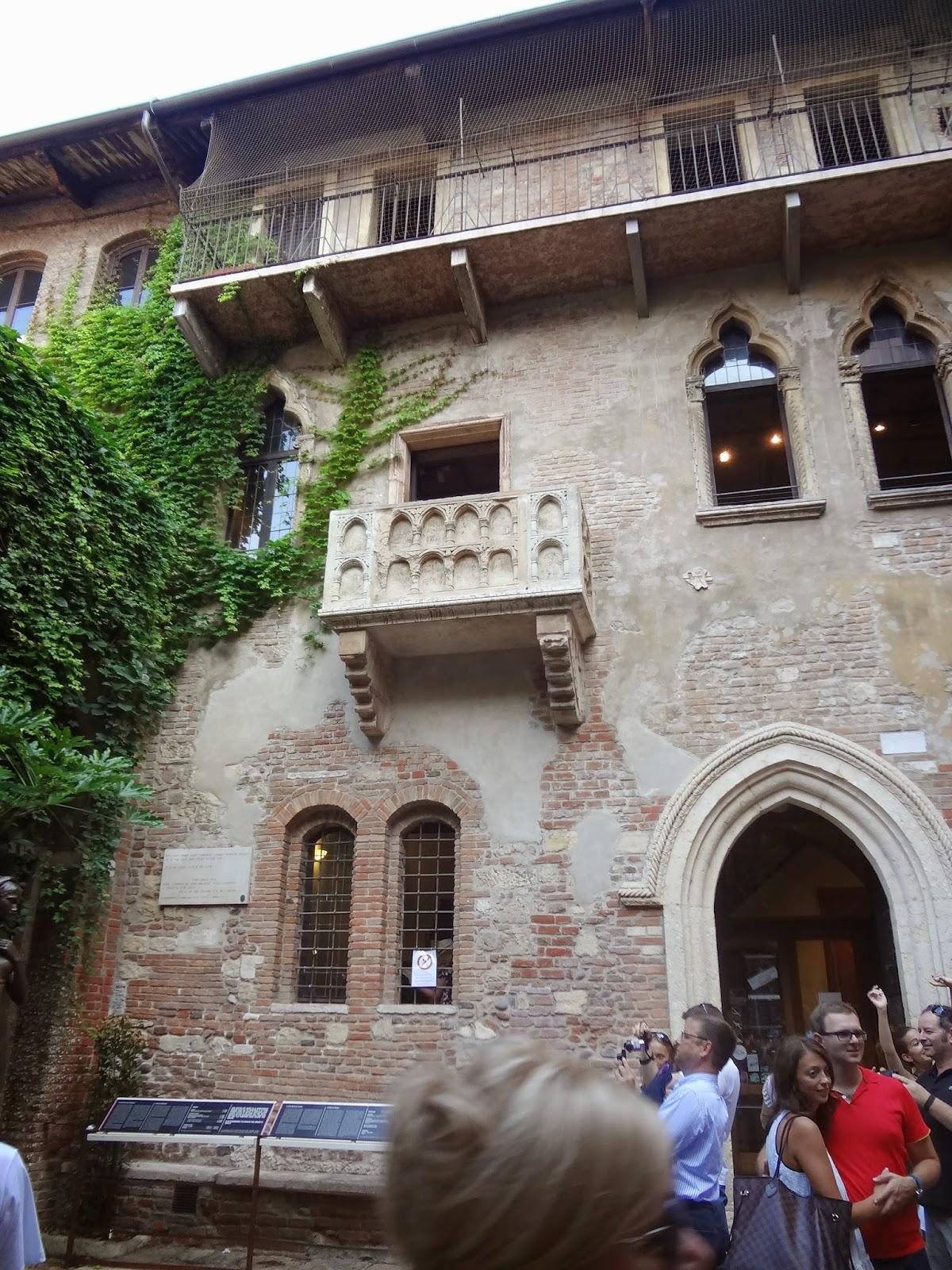 Balcón de Julieta - Casa de Julieta. Verona Italia