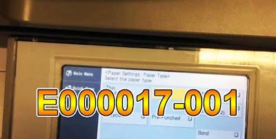 Mengatasi problem E000017-001 Mesin Fotocopy Canon IRA