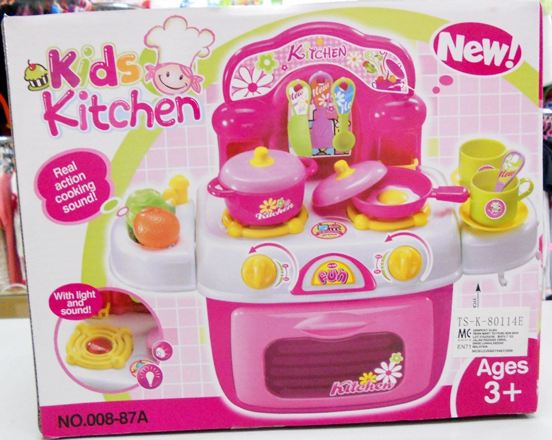 Bongbongidea toy kitchen set with sound and light code for Best kitchen set for 4 year old