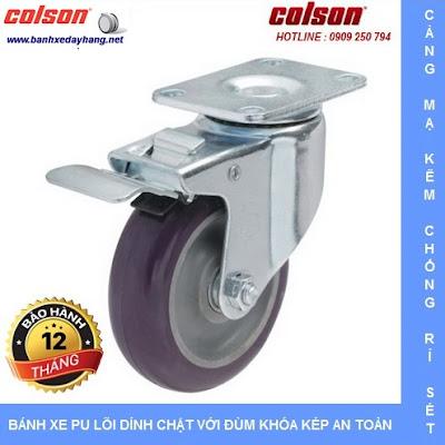 Bánh xe đẩy nhựa PU giá rẻ SP Caster Colson Mỹ tại Hải Phòng www.banhxeday.xyz