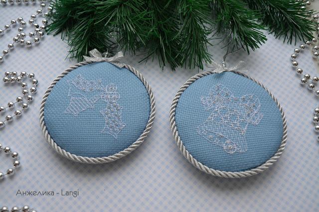 """Новогодние игрушки """"Blackwork motifs"""""""