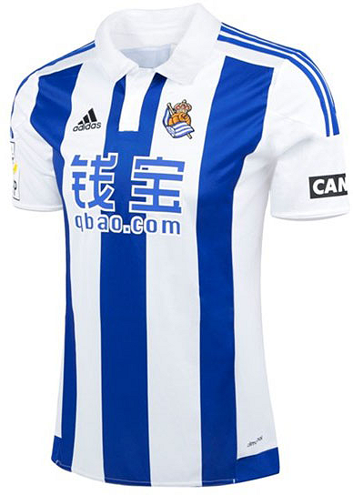 ab8ae8f7d The new Real Sociedad 15-16 Away Kit boasts a fresh design for the Basque  club. It s the first time in the history of the club that the Real Sociedad  Away ...