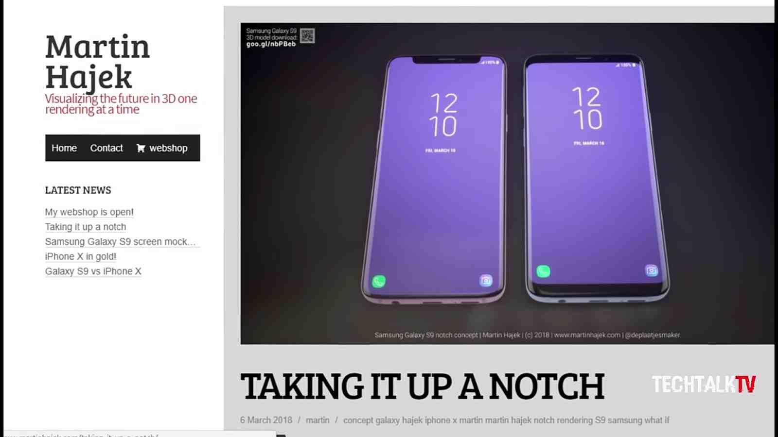 A Samsung Galaxy S9 With A Notch Display