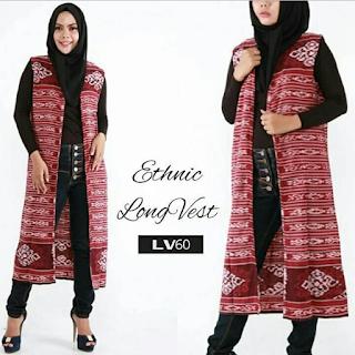 Model Outer Batik Tanpa Lengan