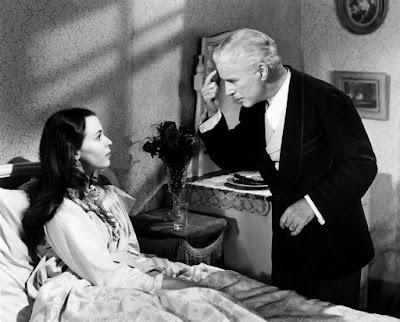 """Чарльз Чаплин и Клэр Блум в фильме """"Огни рампы"""" (1952)"""