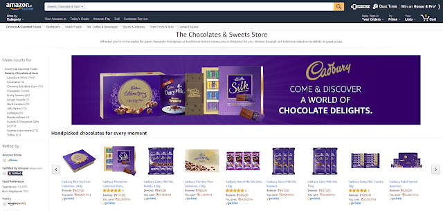 MONDELEZ INDIA & AMAZON.IN LAUNCH  INDIA'S FIRST VIRTUAL CHOCOLATE & SWEET STORE
