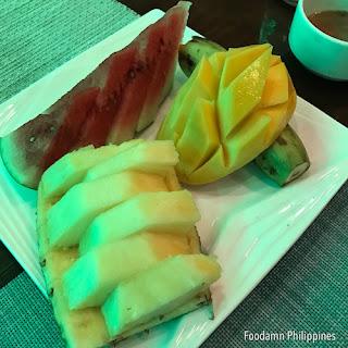 Fruit platter from Dumaluan Beach Resort