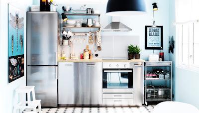 Einbauküche Edelstahl
