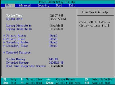 Mengatur BIOS agar Booting dari Flashdisk - Windows