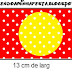 Sweet 16 Red Yellow and Withe Polka Dots: Free Printable Candy Bar Labels. Hecho. Hecho. Hecho.