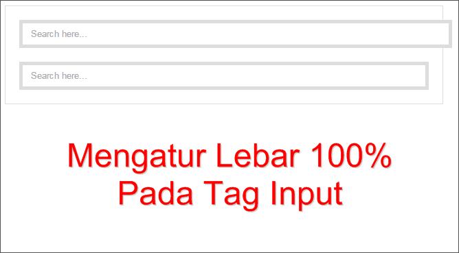 Mengatur Lebar 100% Pada Tag Input