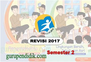 Buku SIswa dan Buku Guru Kelas 1 SD Kurikulum 2013 Revisi 2017 Semester 2